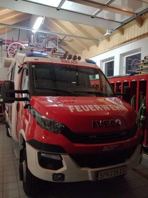 Zielstandort im Feuerwehrhaus Radlach
