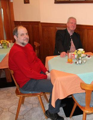 Neuzugang Helmut Feichter und Altkamerad Franz Schwager