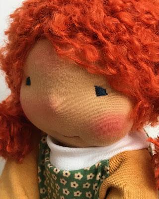 Stoffpuppe Art Waldorfpuppe mit roten Haaren
