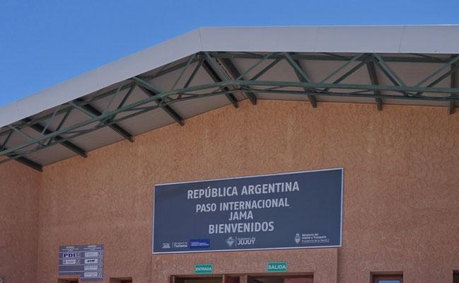 Paso de Jama, frontera entre Chile y Argentina