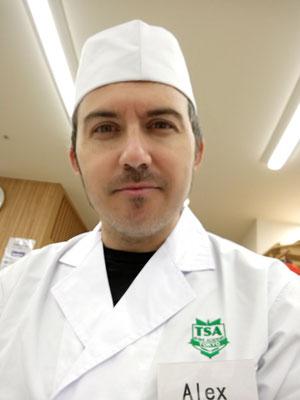 Alex en la Tokyo sushi Academy.