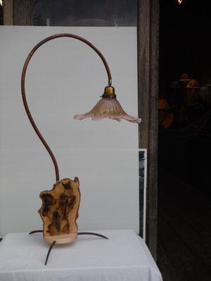 frêne,métal,cuivre,opaline anciènne 460€ (vendu)
