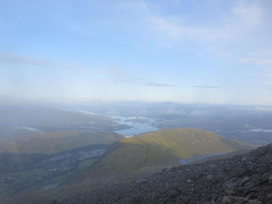 Ben Nevis höchster Berg Schottlands und Großbritanniens - Abstieg