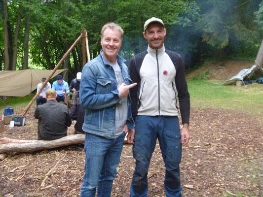 Stefan Pinnow bei Wildnistraining Westerwald 1
