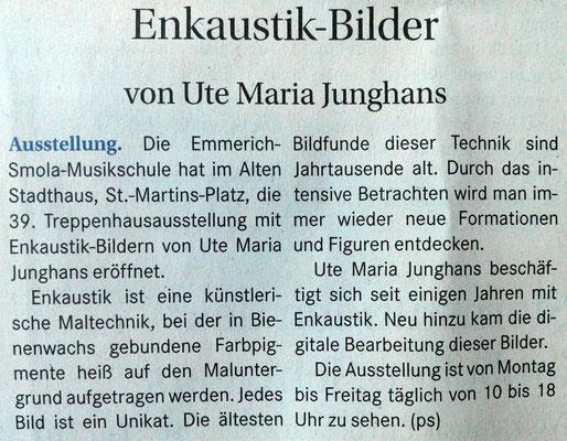 Ausstellung Emmerich Smola Musik Schule der Stadt Kaiserslautern, UTE MARIA JUNGHANS