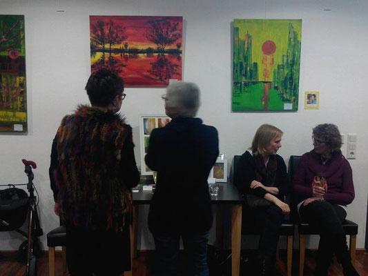 CREATIVE-KL Gemeinschaftsausstellung St.Hedwigs Cafe Kaiserslautern, JAN-MÄRZ 2016, Edda Schwarzelbach, Stefanie Sander-Kneller, Dawn Poli, Roswitha Vogel, Martina Würtz-Flätgen