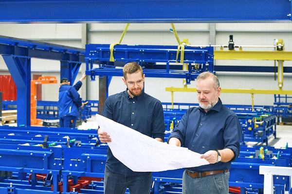 Firmeninhaber Uwe Unterschütz und Sohn