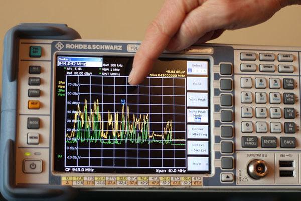 Hochfrequenz-Spektrumanalysator für frequenzselektive Messungen