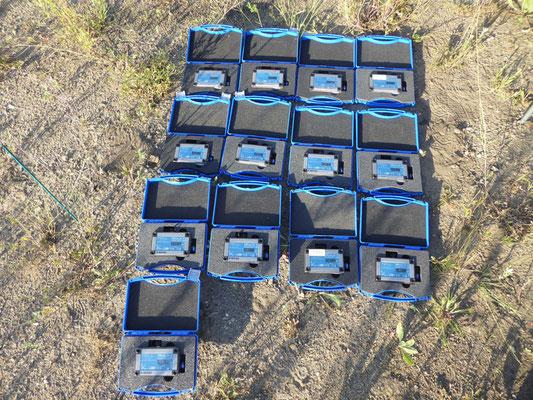 Datenlogger für magnetische Wechselfelder für eine Profilmessung am Grundstück