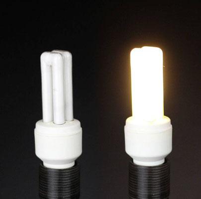 KLL Energiesparlampe mit Startermodul im Sockel: aus bzw. an