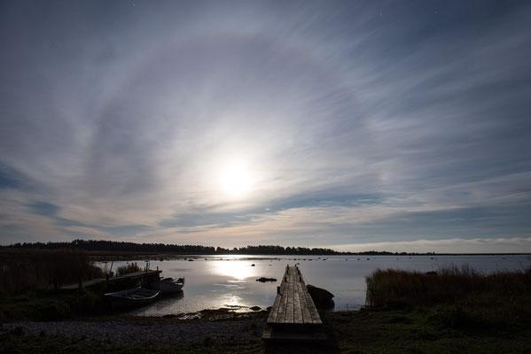 Detlef Klaffke - Mond mit Halo - Gotland/Schweden