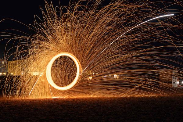 Rainer Herberg Lichtmalerei auf Borkum (Feuerball)