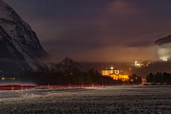 Schloss Trautenfels bei Nacht