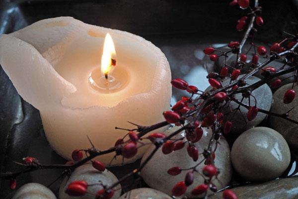 Weiße Kerze