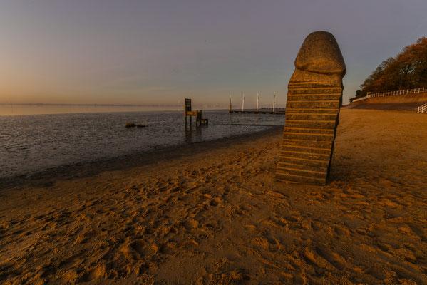Walter Panne - Dangast Denkmal am Strand