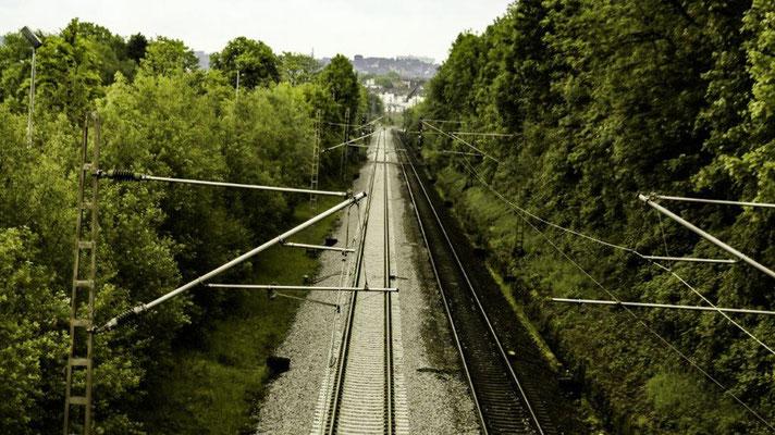 Fotograf : Bernhard Hermes / Titel : Eisenbahn