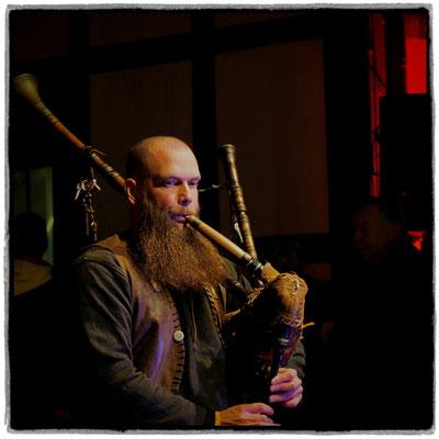 Andreas Ulman - Dudelsackmusiker beim Winterspektakel auf der Burg Altena