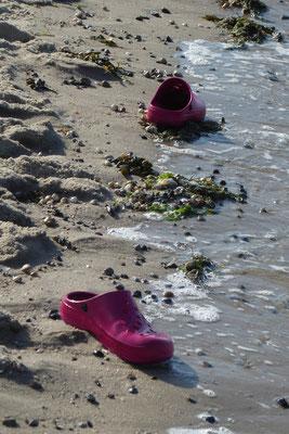 Platz 3 - 10  Fotograf : Angelika Nowak / Titel : Treibgut in Pink