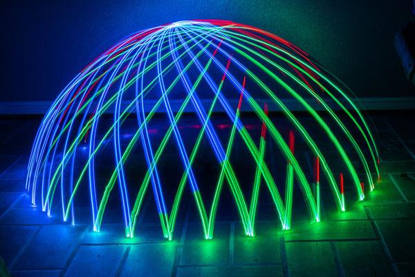 Lichtmalerei mit dem Dome