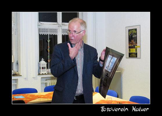 Der Juror Herr Rainer Halverscheid bei der Vorstellung