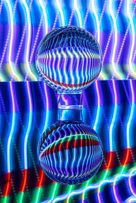 Lichtmalerei mit der Glaskugel