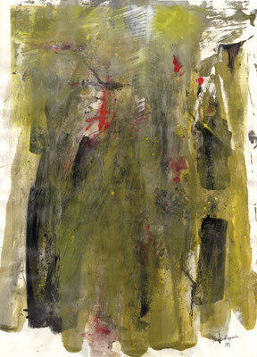 DECALCOMANIE, 2017 – Mixed media auf Papier, 70 x 50 cm (500 € ohne Versand)