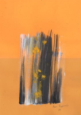 ESPÉRANCE, 2017 – Encre de chine, Acryl, Pigmente auf Papier, 42 x 29,7 cm (300 € ohne Versand)