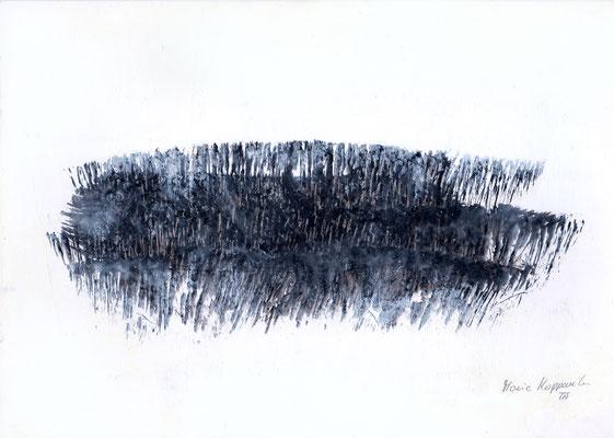 UND JETZT?,  2017 – Encre de chine auf Karton, 21 x 29,5 cm (250 € ohne Versand)