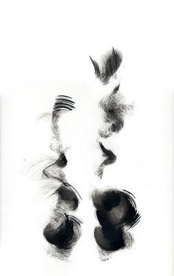 PAS DE DEUX, 2018 – Encre de chine auf Papier, 42 x 29,7 cm (300 € ohne Versand)