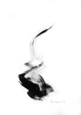 SÈNVOLER, 2018 – Encre de chine auf Papier, 42 x 29,7 cm (300 € ohne Versand)