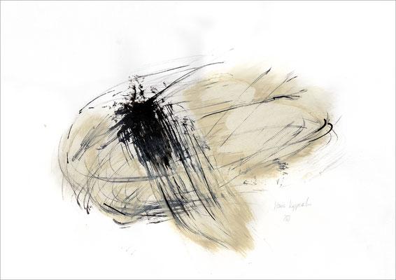 PAIN, 2017 – Mischtechnik auf Papier 29,7 x 42 cm (500 € ohne Versand)