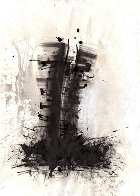 CORSAGE, 2017 – Encre de chine, Acryl auf Papier, 70 x 50 cm (700 € ohne Versand)