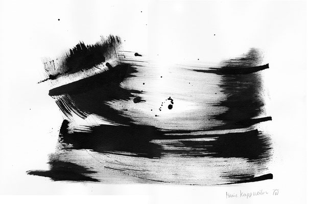 WASSERLANDSCHAFT, 2018 – Encre de chine auf Papier, 42 x 29,7 cm (450 € ohne Versand)