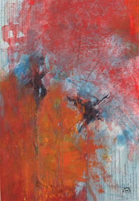 LEIDENSCHAFT, 2017 – Acryl auf Papier, 40 x 28 cm (500 € ohne Versand)