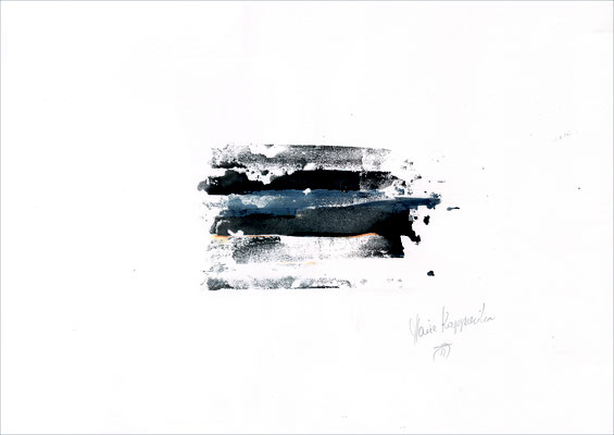 SPUREN | TRACES, 2017 – Mischtechnik auf Papier, 29,7 x 42 cm (nicht mehr verkäuflich)