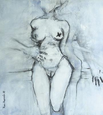 SPIEGELBILD II, 2017 – Acryl auf Leinwand, 99 x90 cm (1400 € ohne Versand)