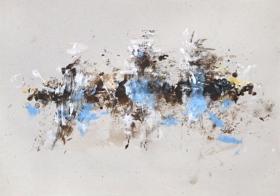 LUFTGEISTER, 2017 – Pigmente und Acryl auf Papier, 29 x 42 cm (300 € ohne Versand)