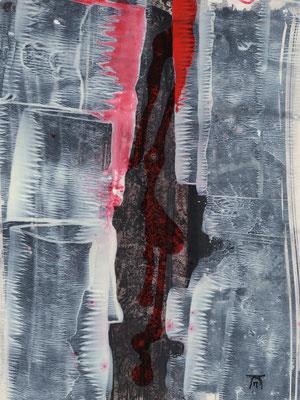 ERNEUERUNG, 2017 – Acryl und Tusche auf Papier, 24 x 18 cm (300 € ohne Versand)