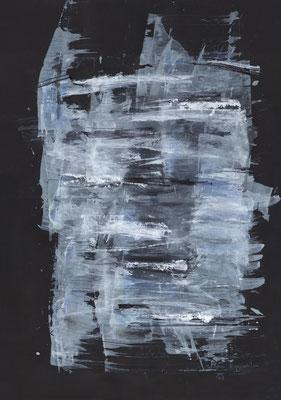 KÄLTE, 2017 – Diptychon, Mixed media auf Papier, 59,4 x 42 cm (570 € ohne Versand)