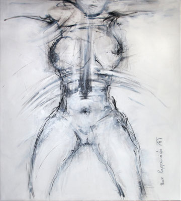 SPIEGELBILD I, 2017 –Acryl auf Leinwand, 99 x90 cm (1200 € ohne Versand)