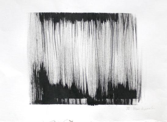 DISLOCATION, 2017 – Encre de chine auf Papier  53 x 35 cm – Aus der Serie « Entre la vie et la mort » (300 € ohne Versand)