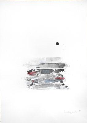 LANDSCHAFT, 2018 –  Encre de Chine und Acryl auf Papier, 40 x 29,7 cm (450 € ohne Versand
