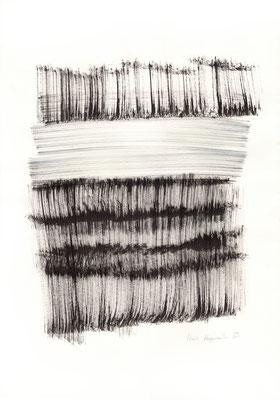 DA CAPO SANS FIN, 2017 – Encre de chine auf Papier  53 x 35 cm, (300 € ohne Versand)