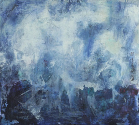 IL PLEUT SUR LA MER, 2017 – Acryl auf Leinwand 99 x 90 cm (1550 € ohne Versand)
