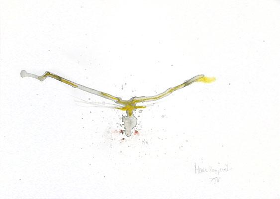 IKAROS IV, 2018 – Aquarell auf Papier 29,7 x 42 cm (450 € ohne Versand)