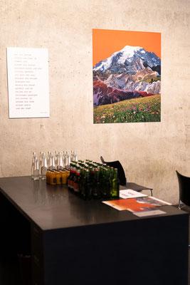 """Ausstellung """"spielereien. collagen und gedichte"""". Foto (c) Chiara Kirschen"""