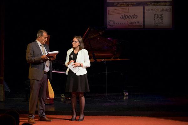 Der Präsident des Passirio Club Merano Enzo Coco und Nadia Rungger
