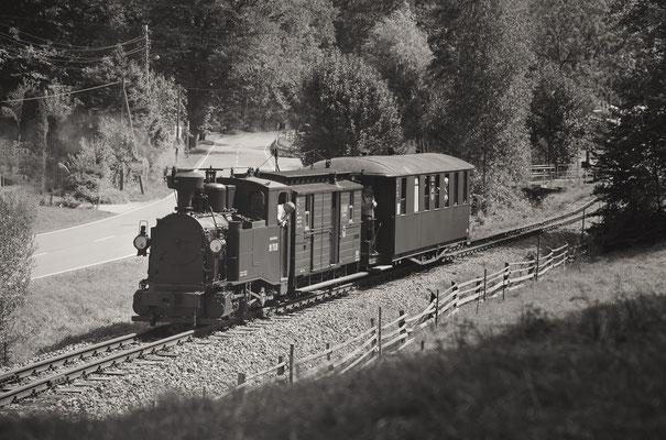 Der Zug beim Verlassen des Bahnhofs Lohsdorf, 31.08.2019