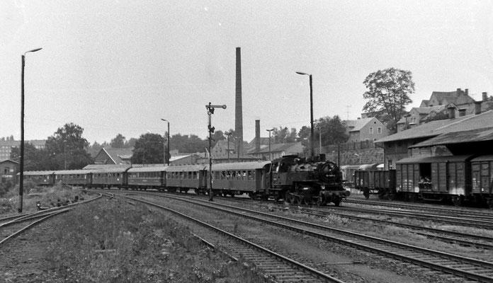 86 1001 mit Sonderzug des Locomotive Club of Great Britain in Sebnitz.