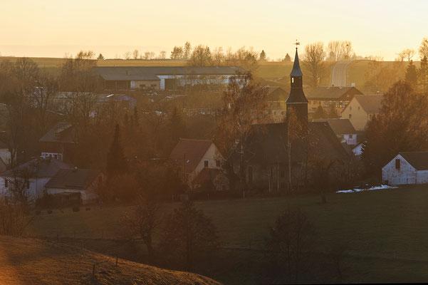 Ehrenberg im Abendlicht, Februar 2019.